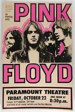Pink Floyd Oct 22 - Concert VINTAGE BAND POSTERS Song Rock Travel Old Advert #ob