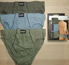 Pack 3 Calzoncillos slip 100% algodón. Colores lisos. Talla M / 38