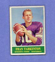 FRAN TARKENTON VIKINGS 1964 PHILADELPHIA FOOTBALL CARD #109 NFL HALL OF FAMER