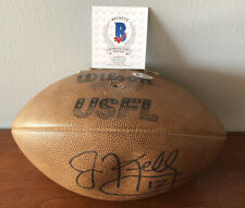 RARE Jim Kelly Autographed USFL Football Beckett COA Official Wilson USFL