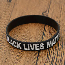 Black Lives Matter Wristbands Bracelet Awareness Cuff Wrist Band Bangle Lots