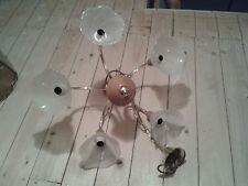 Neues Angebot Wohnzimmerlampe Metall Gold Holz 5 Flammig