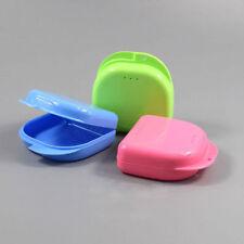 1Pack  Dental Retainer Box Case Dentures Mouthguard Good Brace False Teeth Color