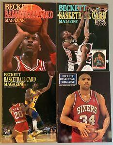 1st Fourr Beckett Basketball Card Price Guide Magazine #1, 2, 3, 4 Issues JORDAN