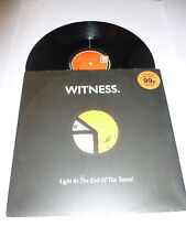 """WITNESS - Light At The End Of The Tunnel - Deleted 1991 UK 3-track 12"""" Single"""
