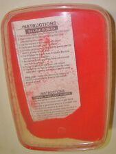 1 Ltr baignoire de rouge fluo vrac plomb revêtement par poudre