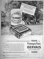 PUBLICITÉ DE PRESSE 1960 FROMAGE CARRÉ GERVAIS FRAIS DOUBLE CRÉME