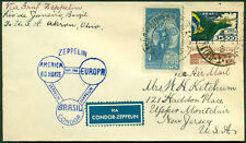 FLIGHT COVER VIA CONDOR - ZEPPELIN RIO DE JANIERO, BRASIL TO AKRON, OHIO BL404