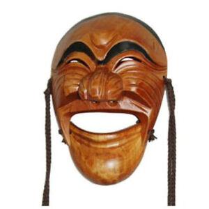Vintage Wood Mask Korean Traditional HaHoe Tal Joong Festivals Face Size Gift