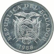 COIN / ECUADOR / 5 SUCRES 1988   UNC    #WT18187