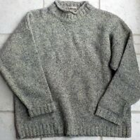 Abercrombie and Fitch 100% Shetland Wool Roll Collar Sweater Grayish Green Med