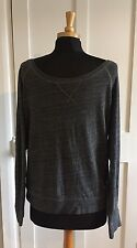 Abercrombie & Fitch Men's Lightweight Top - Long Sleeved - Size Large - Grey