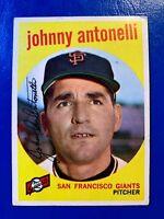 1959 Topps Baseball Card # 377  Johnny Antonelli
