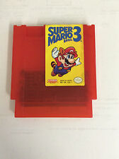 Super Mario Bros. 3 Custom NES Nintendo Game Red Cartridge Shell original label