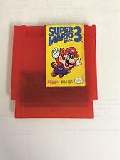 Super Mario Bros. 3 Custom NES Nintendo Game Red Cartridge Shell original label