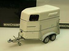 Minichamps remorque chevaux Boeckmann gris blanc - 400 905120 - 1/43