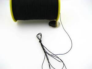 60ms black Round Elastic Stretchy Thread hat Beading jewellery craft elastic