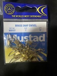 12 Fishing mu6 bis 1 pack of 12 pieces of Swivel Mustad s.77801 No