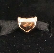Authentic PANDORA Rose Gold Big Smooth Heart Charm 780137