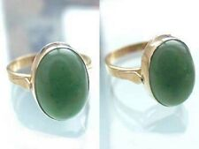 Klassischer Ring Gold 750 mit Jade Cabochon - Goldring 18 kt Damenring Jadering