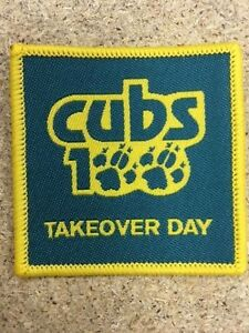 Cubs100 TAKEOVER DAY Badge. Collectors item.