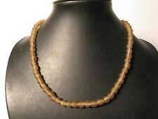Polvere perle in vetro 8mm Marrone Chiaro Ghana riciclaggio Powder glass beads afrozip