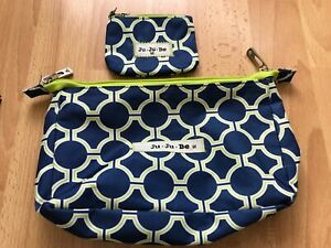 JuJuBe large and small set pieces blue and lime