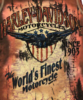 Harley-Davidson Womens Tennessee Crest Eagle US Flag Brown Tank Top Medium L