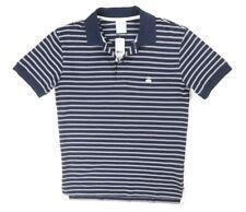 Nuevo Brooks Brothers Azul Marino a Rayas Pique Ajustado Camisa Polo Rendimiento