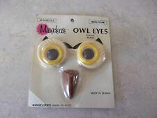 """Nos Vtg Never Used Mangelsens for Boho Macrame Owl """"Eyes And Beak"""""""