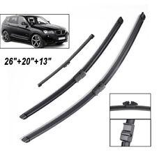 Full Set Front Rear Window Windshield Wiper Blades Flat LHD For BMW X3 F25 10-17