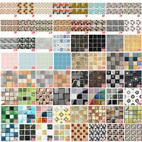 3D New Mosaic Style Self-adhesive Bathroom Kitchen Wall Stair Tile Sticker Decor