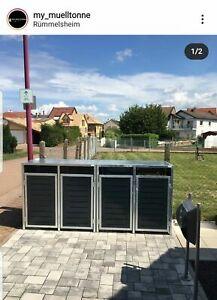 4er Mülltonnenbox, Mülltonnenverkleidung für 4 Mülltonnen
