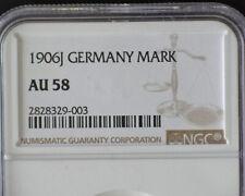 GERMANY 1906J 1 MARK NGC AU58 (KM#14) RARE THIS NICE