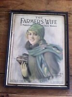 The Farmers Wife framed cover January 1927 Ice Skates framed