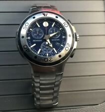 45913e16e Movado Men's 2600020 Series 800 Chronograph Stainless Steel Watch Blue