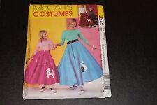 Poodle Skirt sewing pattern Girls Size 7 8 10 12 14 16 women 8 - 18 FACTORY FOLD