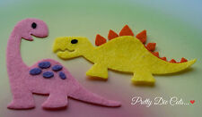 Felt Dinosaurs (pack of 2) Die Cut Dino Animal Shape Craft Embellishments