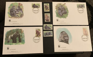 2008 Cross River Gorilla WWF FDC & Stamps MUH Nigeria