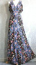Monsoon Summer Maxi Dress Boho Floral Multicoloured V Neck UK  14