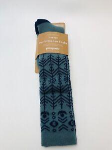 PATAGONIA 50115 HW Merino Performance Knee Length Socks Large Green