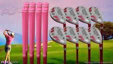 "Senior Ladies iDrive Pink Golf Clubs All Hybrid (3-PW) Full Set ""senior"" Flex"