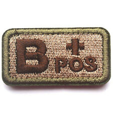 USA Blood Type B+ Positive Tactical Army Hook 3D Embroidered BADGE Patch