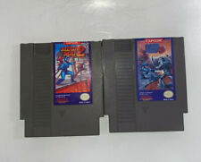 Mega Man 2 and Mega Man 3 Authentic Nintendo NES Game Lot Cleaned Tested Working