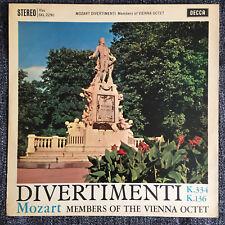 RARE SXL 2290 Mozart Divertimenti Vienna Octet First UK Decca ED1 WBG LP NM/EX