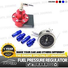 Universal Adjustable Auto Car Fuel Pressure Regulator Filled Oil Gauge Red Z8X1