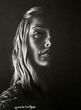 Cersei Lannister Drawing Original Portrait 9x12 Game of Thrones Art