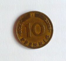 Germany Federal Republic 10 Pfennig, 1950 J Stamp Collectible Coin