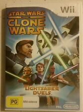 STAR WARS THE CLONE WARS LIGHTSABER DUELS NINTENDO Wii GAME  - FAST FREE POST!
