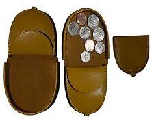 Leather change purse, Coin case, Camel Coin case, change purse money case Br New